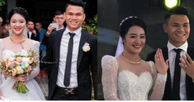 Nhan sắc vợ Xuân Mạnh – chàng cầu thủ nghèo nhất Việt Nam ngày đám cưới: Không cầu kì nhưng rất rực rỡ